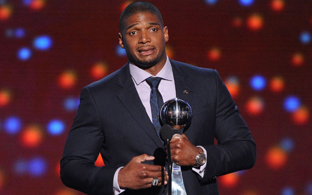 Michael Sam gave a touching speech at the ESPYs Wednesday.