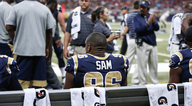 Michael Sam recorded his first career sack on Saturday afternoon.