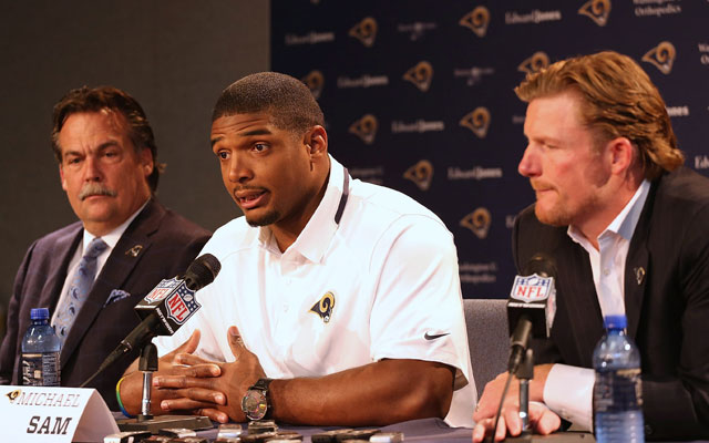 Jeff Fisher says Michael Sam is 'absolutely not' a distraction.