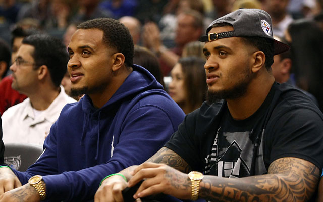 A man alleges Mike and Maurkice Pouncey were involved in an assault Friday night.