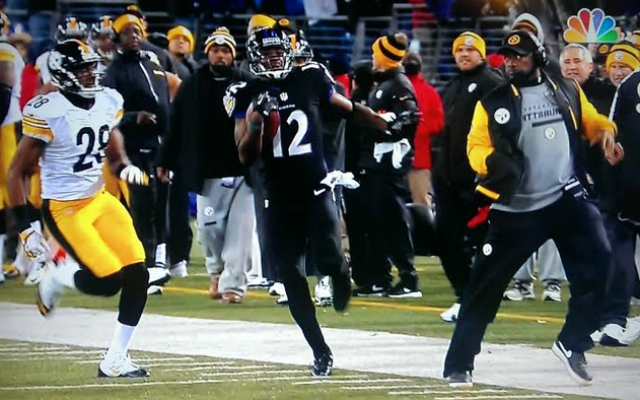 Did Mike Tomlin try to trip Jacoby Jones?