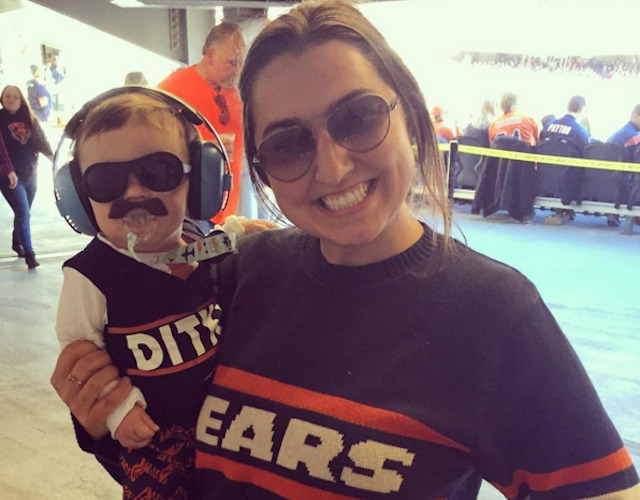 Can Baby Ditka lead the Bears to a win over the Rams? (Instagram/haleylandsduran)