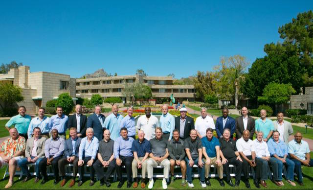 Bill Belichick (front row, second from right) is the best of this bunch. (Twitter)