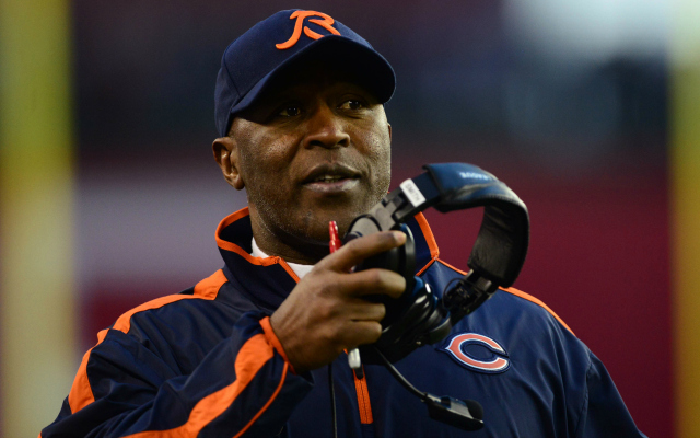 Lovie Smith reportedly interviewed with the Texans.