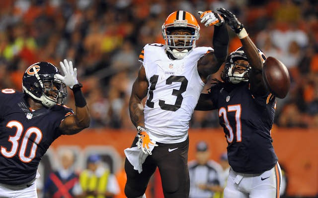 Nate Burleson's first game as a Brown might have been his last. (USATSI)