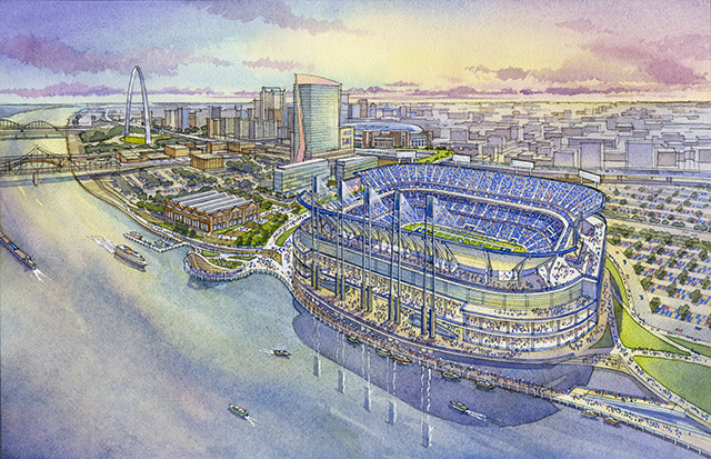 Look Rendering Plans For Proposed New St Louis Rams