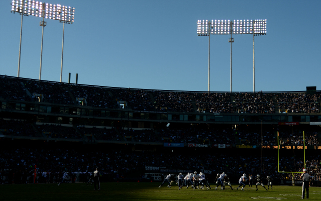 The Raiders will stick around Oakland for a year.