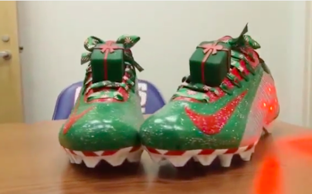 514b2ff33a0 WATCH  Odell Beckham s Christmas cleats are the gaudiest gift of the year -  CBSSports.com