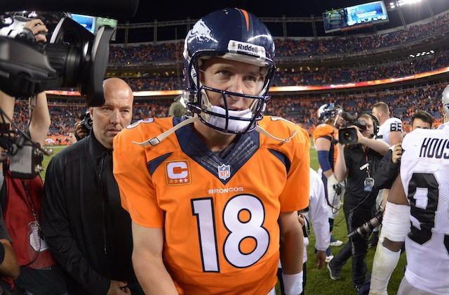 Peyton Manning has a small complaint about the NFL Week 4 schedule. (USATSI)