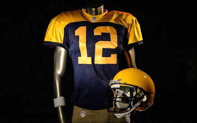 brand new 9b41f e580d LOOK: Packers will wear these blue and gold throwback ...