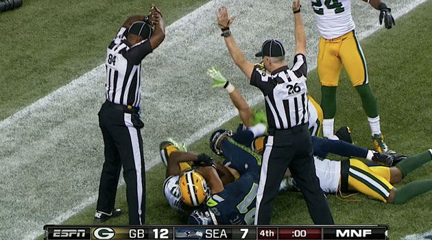 Packers-Seahawks final play