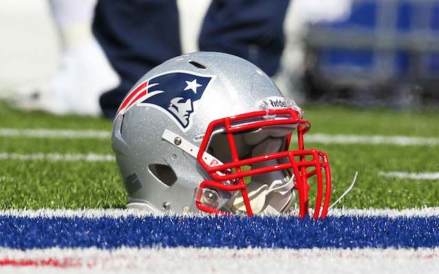 There was no helmet involved when a Patriots fan robbed a bank on Tuesday. (USATSI)