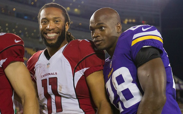buy online 533a0 51c91 Larry Fitzgerald: Adrian Peterson to Cardinals would be ...