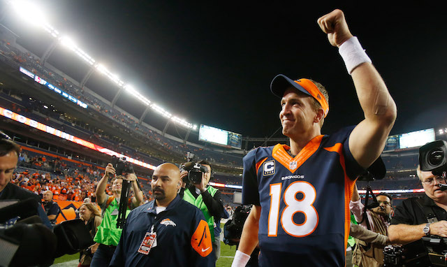 Peyton Manning is already the second best quarterback in Broncos history. (USATSI)
