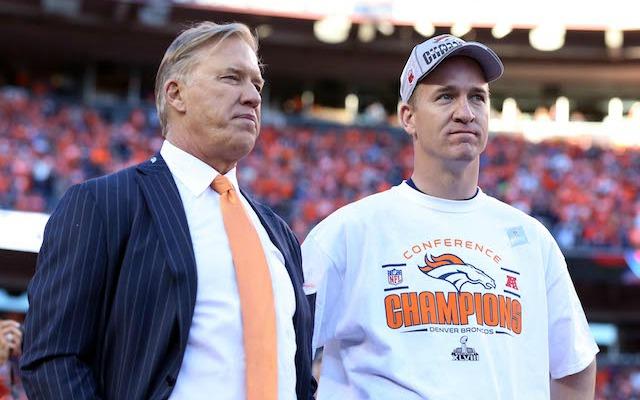 John Elway says Peyton Manning has plenty of time to make his retirement decision. (USATSI)