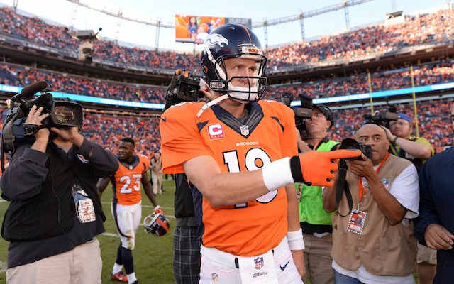 Brett Favre glad it's Peyton Manning breaking his all-time TD pass record