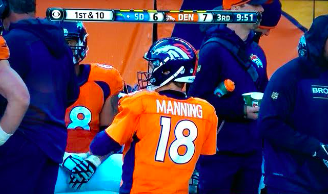 Peyton Manning is back at quarterback for the Broncos. (CBS)
