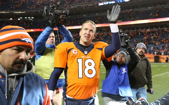 Peyton Manning is the only starting QB left in the playoffs who wasn't taken in the MLB Draft. (USATSI)