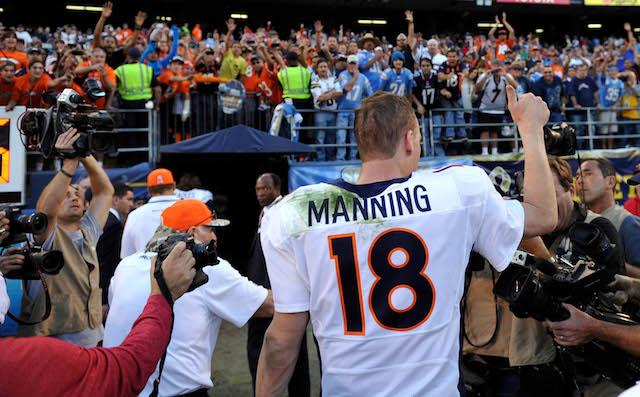 Peyton Manning is going after a record held by Jim McMahon. (USATSI)