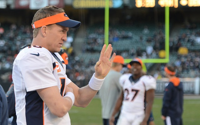 The NFL has decided Peyton Manning gets to keep the single-season NFL record for most passing yards. (USATSI)