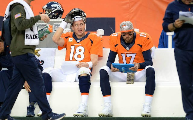 Peyton Manning has been benched for Brock Osweiler. (USATSI)
