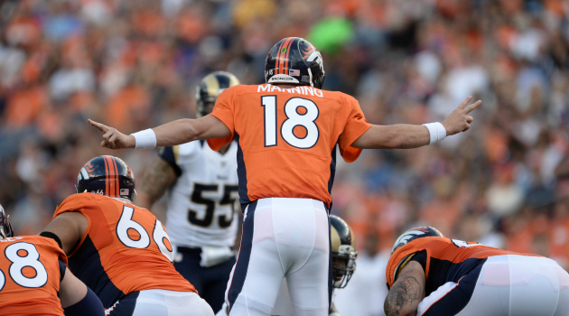 Denver poised to go to the NFL title game. (USATSI)