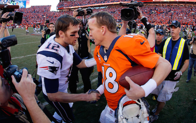 We'll get to see Tom Brady vs. Peyton Manning, part XVI. (USATSI)