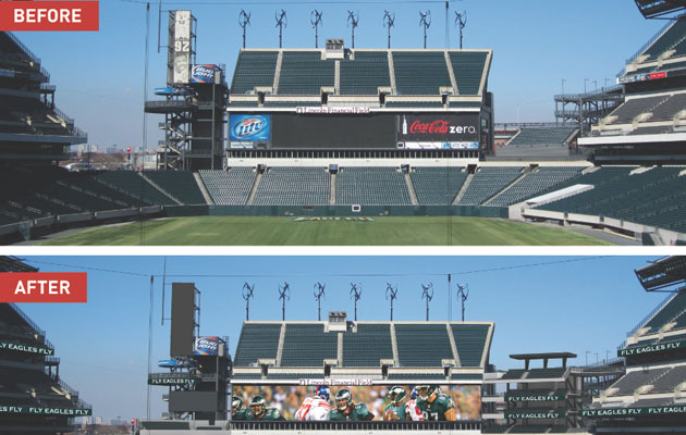 The Linc's north end zone after the Eagles proposed stadium upgrades. (via Eagles)