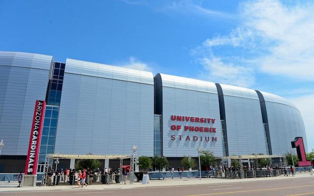 University of Phoeniz Stadium might not be hosting the NFL's biggest game in February 2015. (USATSI)
