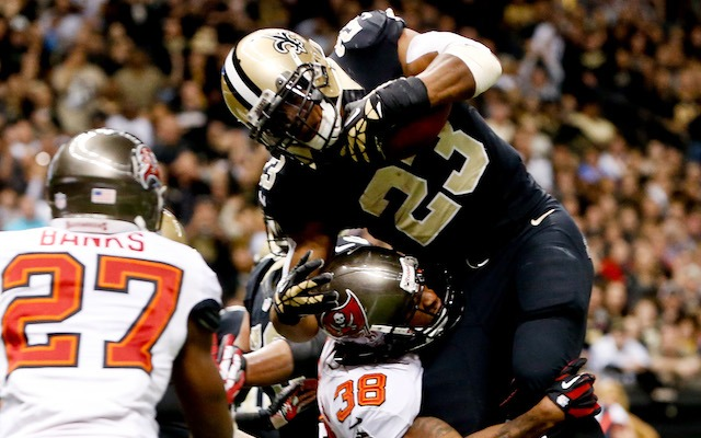 Pierre Thomas won't be playing against the Eagles after injuring his chest in Week 17. (USATSI)