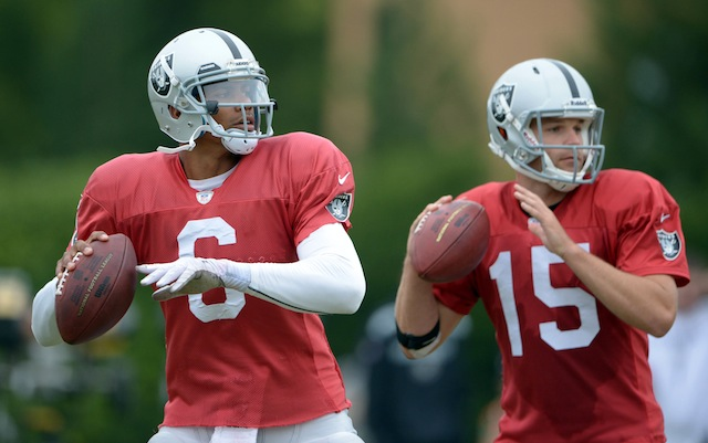 Terrelle Pryor is the Raiders No. 1 quarterback, Matt Flynn has been dropped to No. 3. (USATSI)