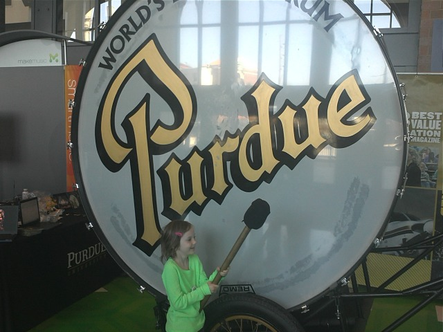 Purdue's Big Bass Drum is truly big. Also truly a bass drum. (Jerry Palm)
