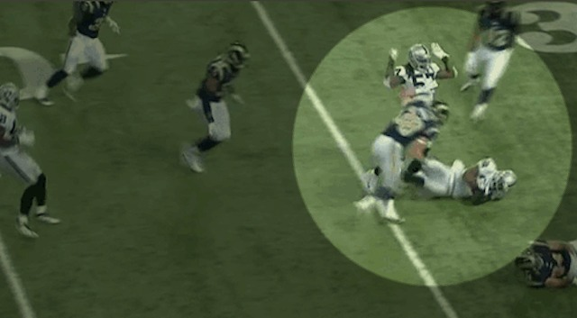 Ray-Ray Armstrong is sorry for tackling his teammate. (CBS)