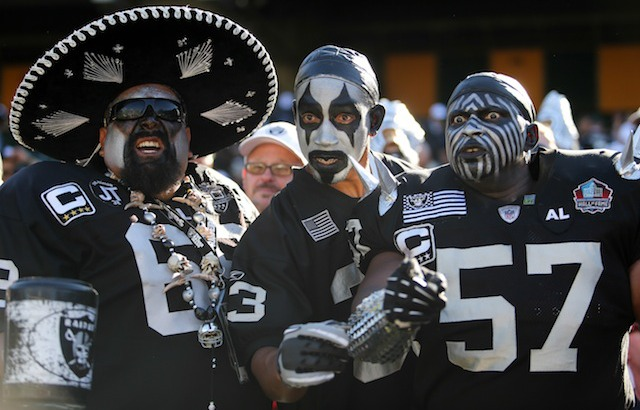 Raiders fans actually had something to cheer about in Week 2. (USATSI)