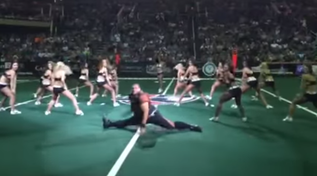 WATCH: Lineman-sized dancer gets crazy at arena football