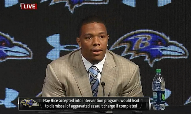 The Ravens expect Ray Rice to miss at least three games in 2014. (ESPN)