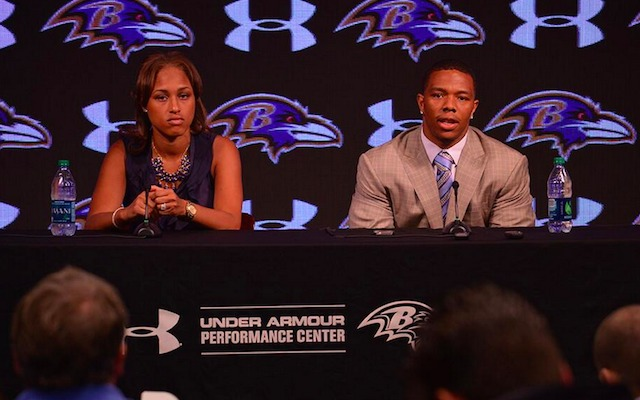 Janay Rice and Ray Rice offered their first public comments Friday. (Twitter/@Ravens)
