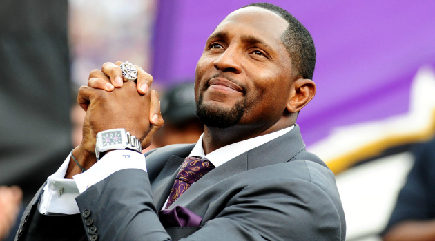 Ray Lewis is quick to praise his own leadership.