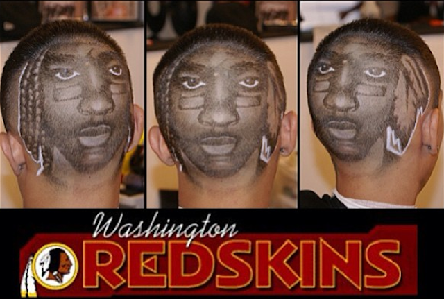 This is what it looks like when RG3 gets shaved into the back of your head. (Instagram)