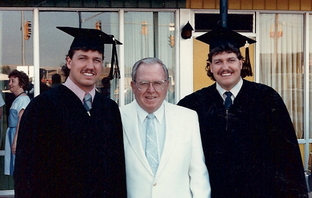 The Ryan brothers at their college graduation in the 1980's. (Twitter)