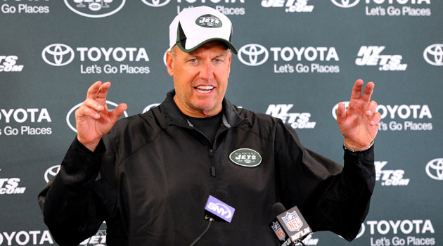 Rex Ryan is now more measured in his grand proclamations. (USATSI)