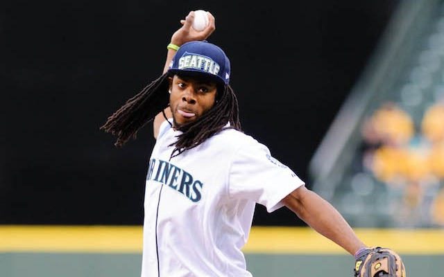 Richard Sherman knows a little something about baseball. (USATSI)