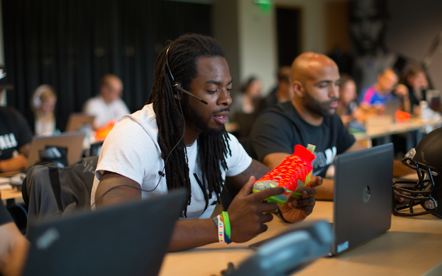 WATCH: Richard Sherman working Nike customer service for 'Gear Up' -  CBSSports.com