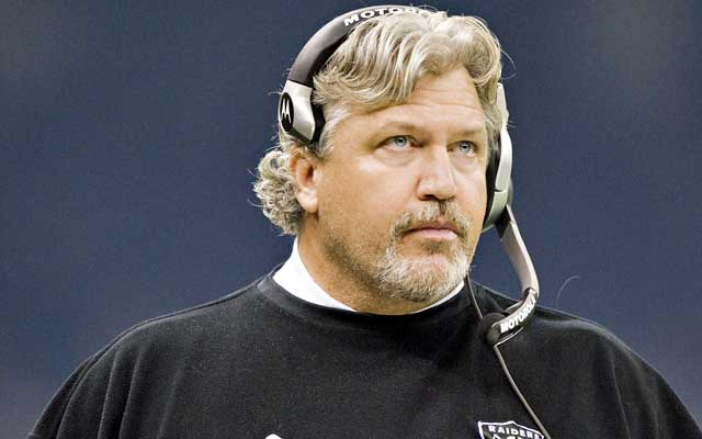 Rob Ryan, circa 2008, coaching with the Raiders.