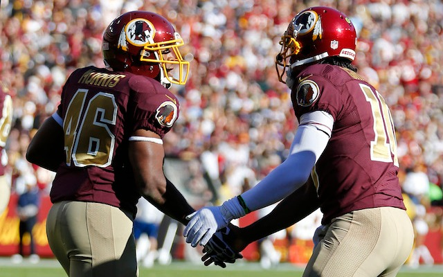 RG3 [right] says Alfred Morris is the Redskins' biggest offensive weapon. (USATSI)