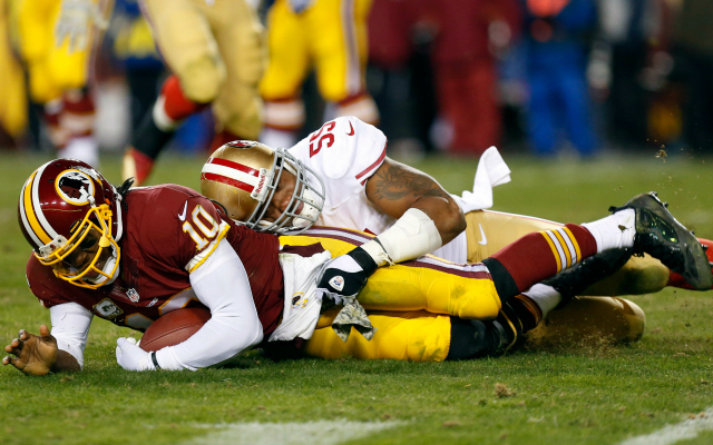 Ahmad Brooks says RG3 shouldn't be playing right now.