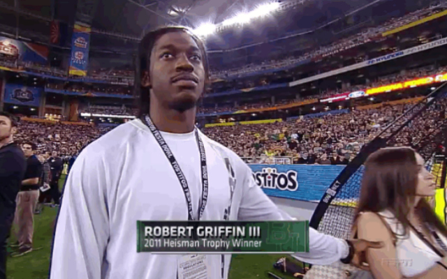 RG3 got dissed by his lady.
