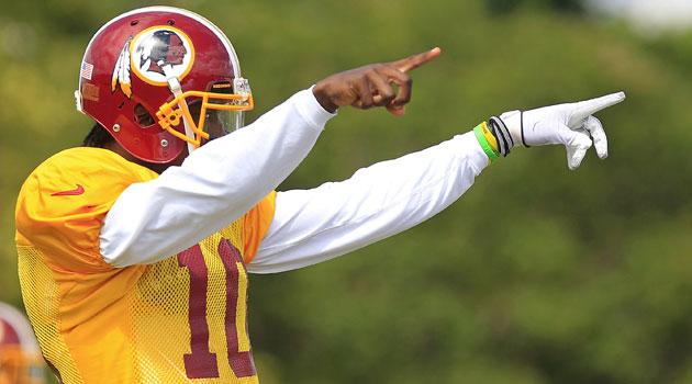 Robert Griffin III says he's 'close to 100 percent' at this point.