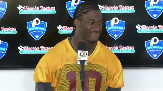 Robert Griffin III sported a new haircut Monday and said 'no doubt' he'll be ready Week 1.