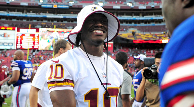 Robert Griffin III says he's 'not below 100 percent.'